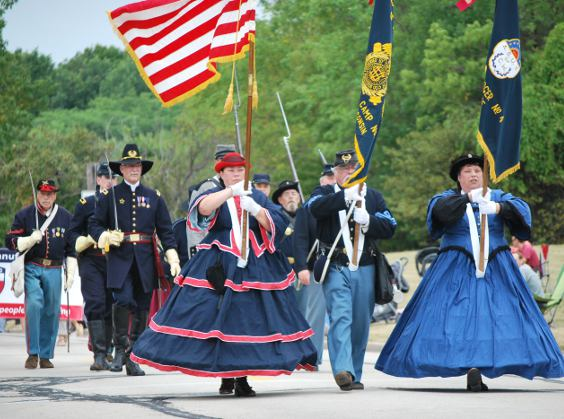 Auxiliary members march with SUVCW in parades